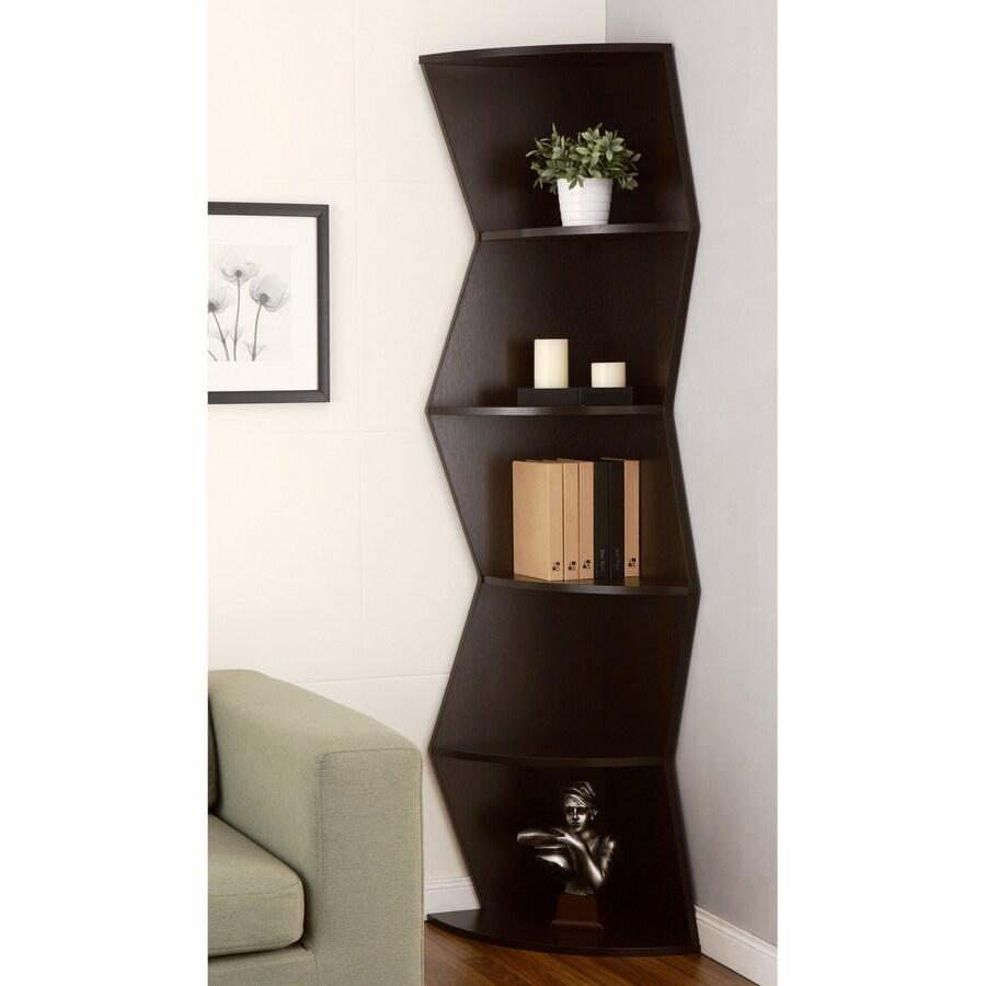 Enitial Lab Espresso 5-Shelf Bookcase