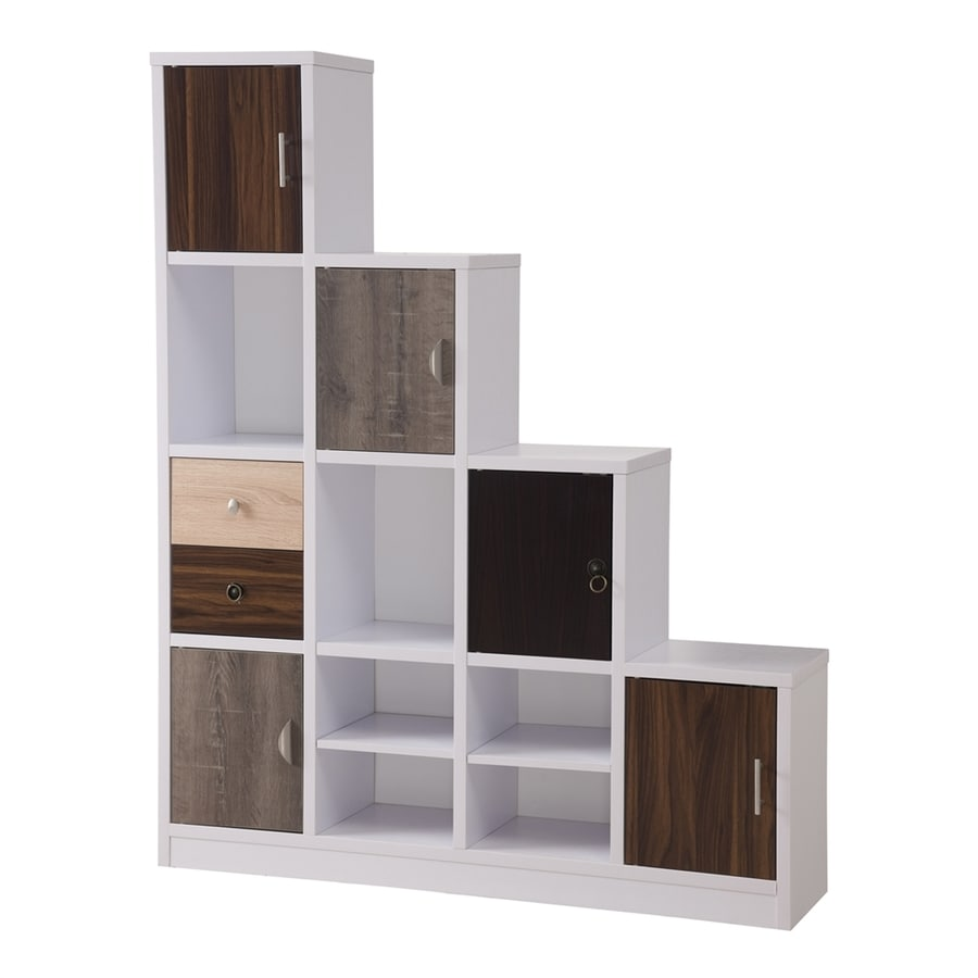 Enitial Lab White 6-Shelf Bookcase