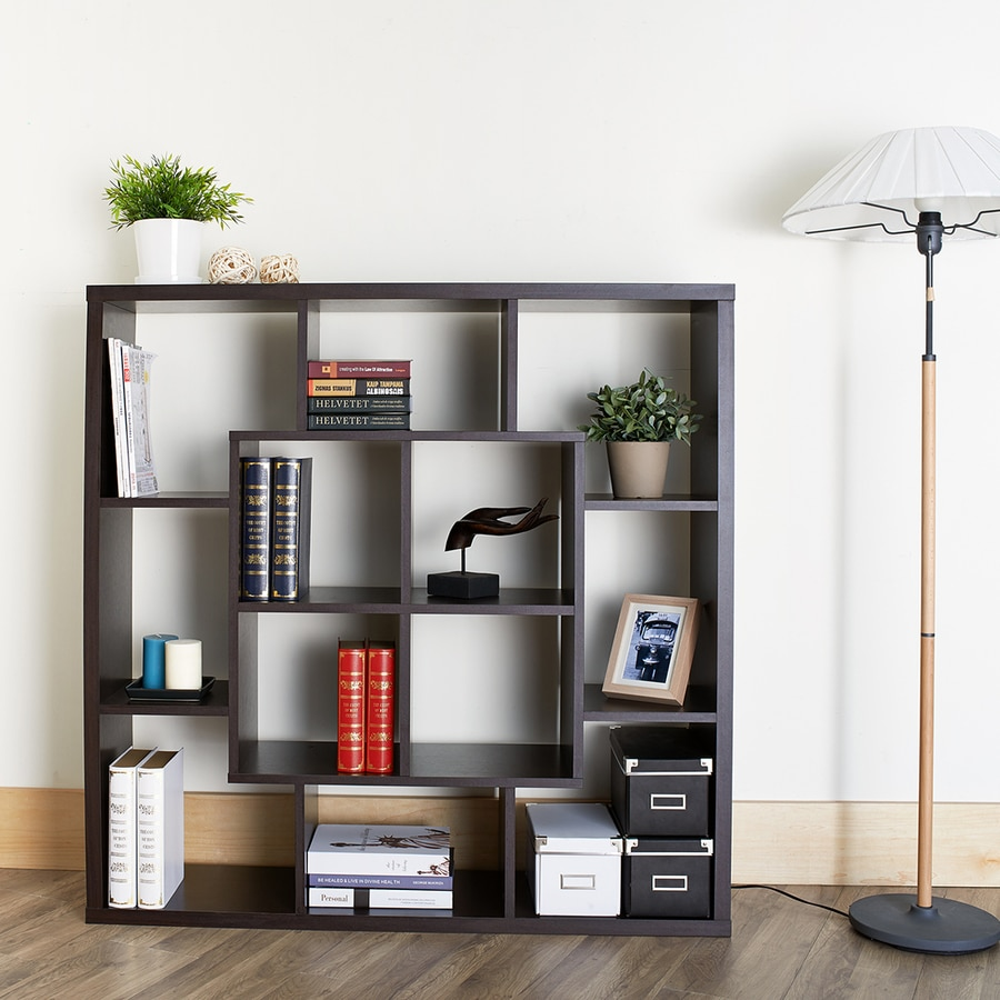 cube horizontal bookcase target espresso shelf