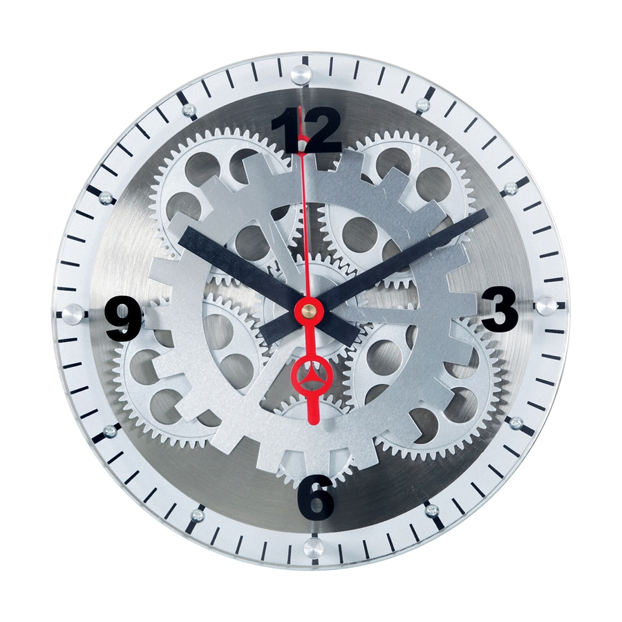 Maple's Moving Gear Analog Round Indoor Wall Clock
