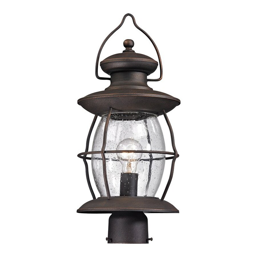 Westmore Lighting Village Lantern 21-in H Weathered Charcoal Post Light