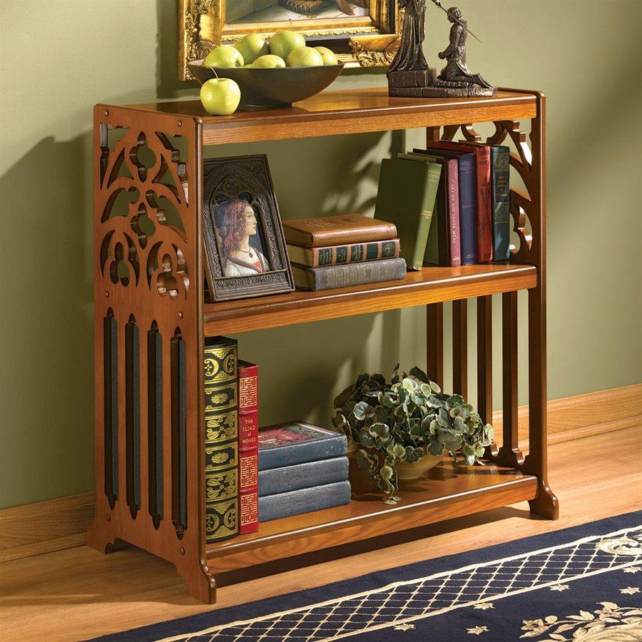 Design Toscano Wood 2-Shelf Bookcase