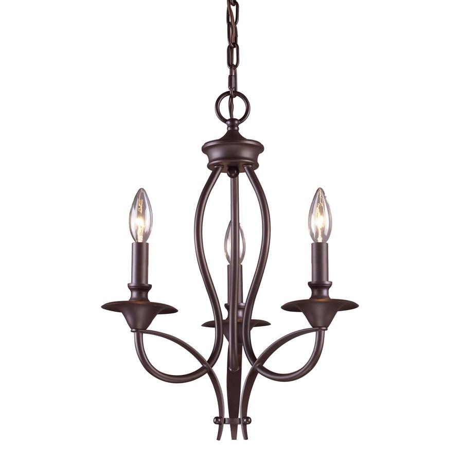 Westmore Lighting Kovin 14-in 3-Light Oiled Bronze Candle Chandelier