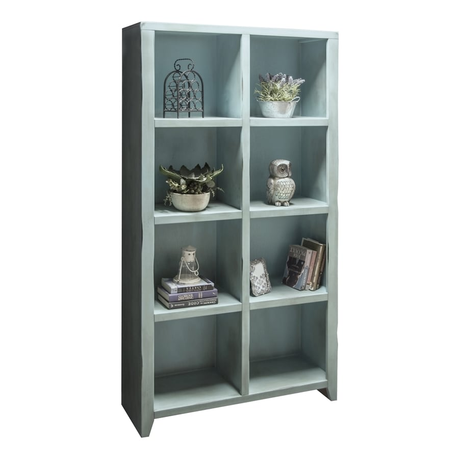 Legends Furniture Calistoga Blue Wood 8-Shelf Bookcase