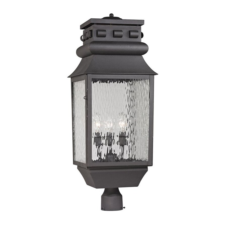 Westmore Lighting Forged Lancaster 29-in H Charcoal Post Light