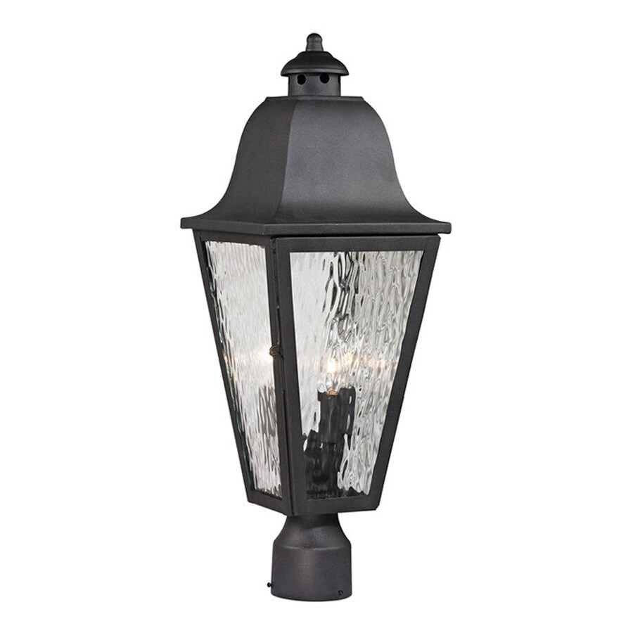 Westmore Lighting Forged Brookridge 23-in H Charcoal Post Light
