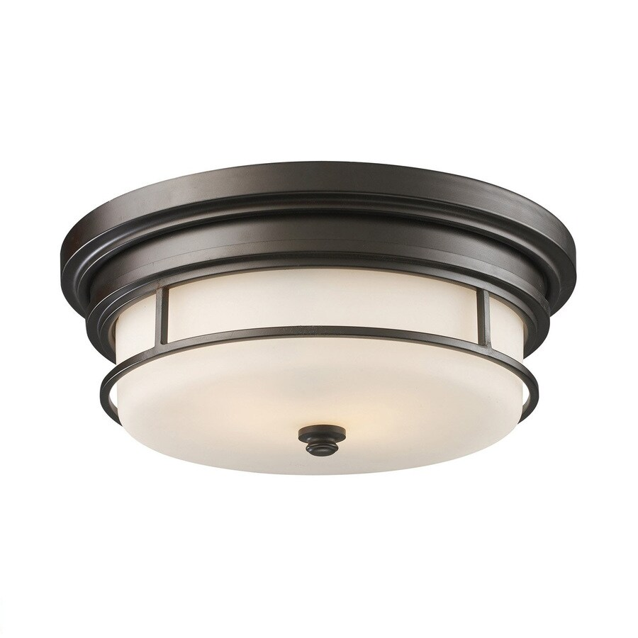 Westmore Lighting Newfield 13-in W Oiled Bronze Flush Mount Light
