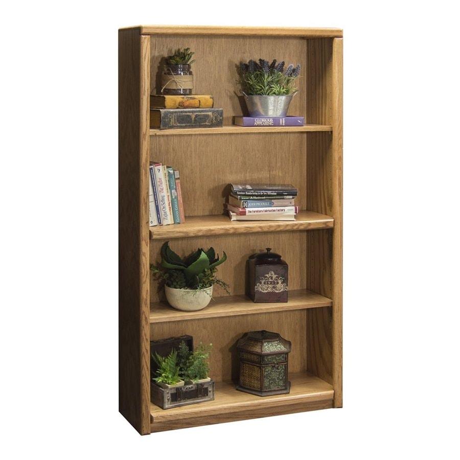 Legends Furniture Contemporary Light Oak Wood 4-Shelf Bookcase