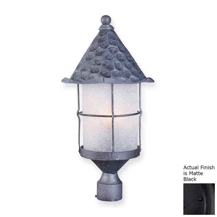 Westmore Lighting Rustica 3 26-in H Matte Black Post Light