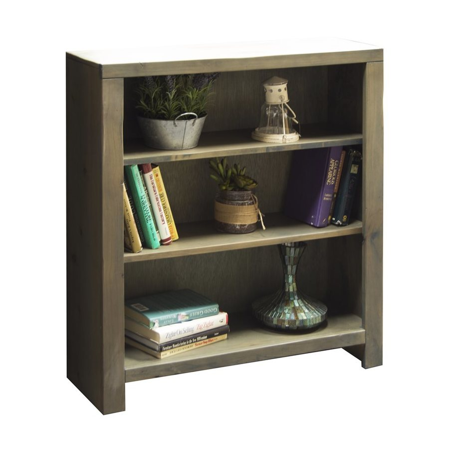 Legends Furniture Joshua Creek Barnwood Wood 3-Shelf Bookcase