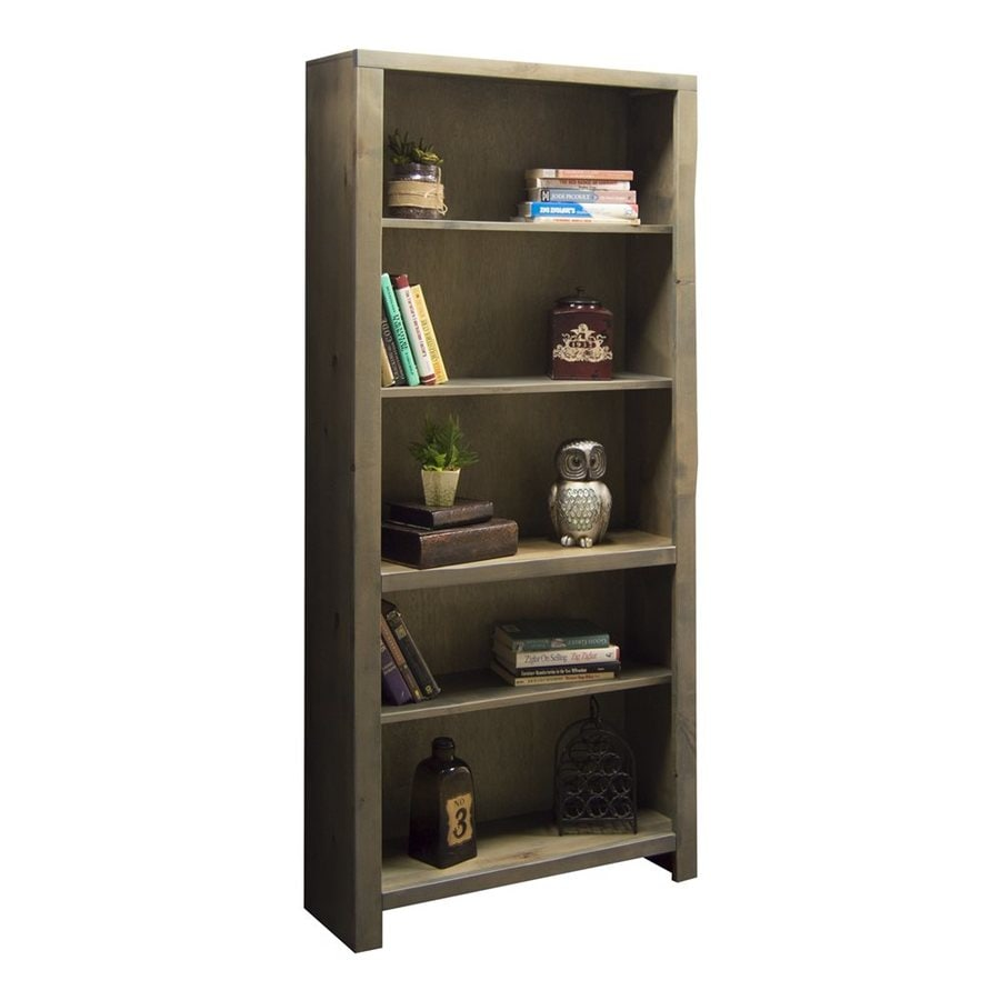 Legends Furniture Joshua Creek Barnwood Wood 5 Shelf Bookcase