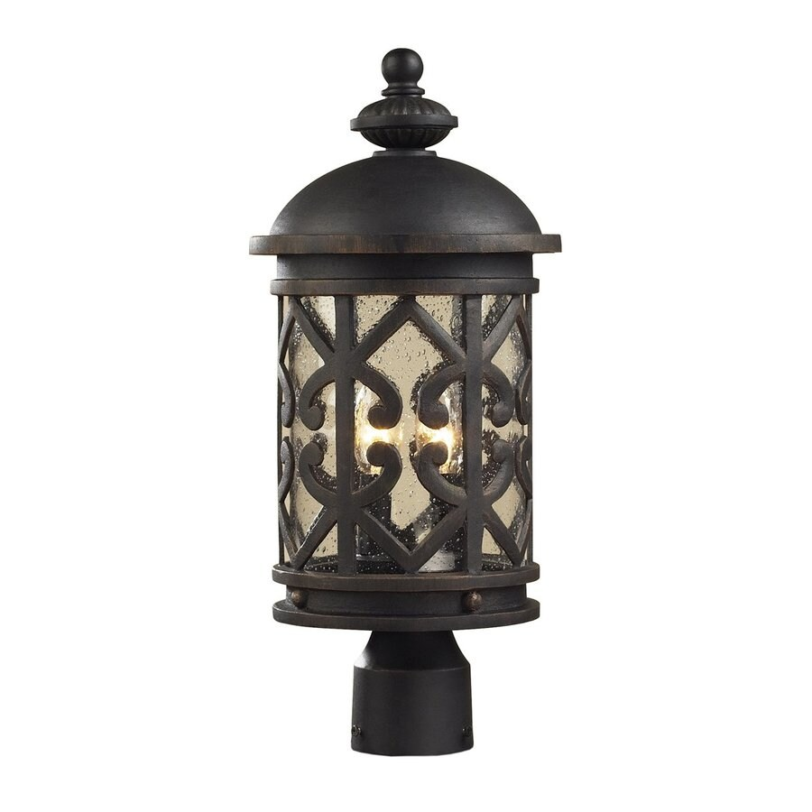 Westmore Lighting Tuscany Coast 19-in H Weathered Charcoal Post Light