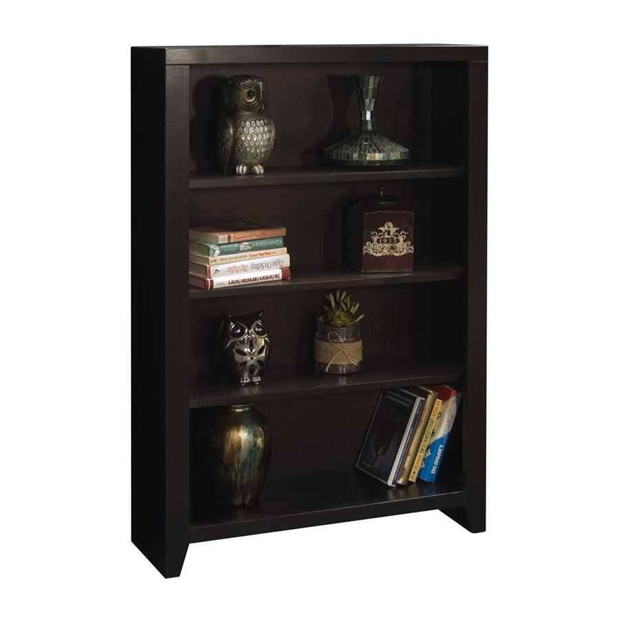 Legends Furniture Urban Loft Mocha Wood 4-Shelf Bookcase