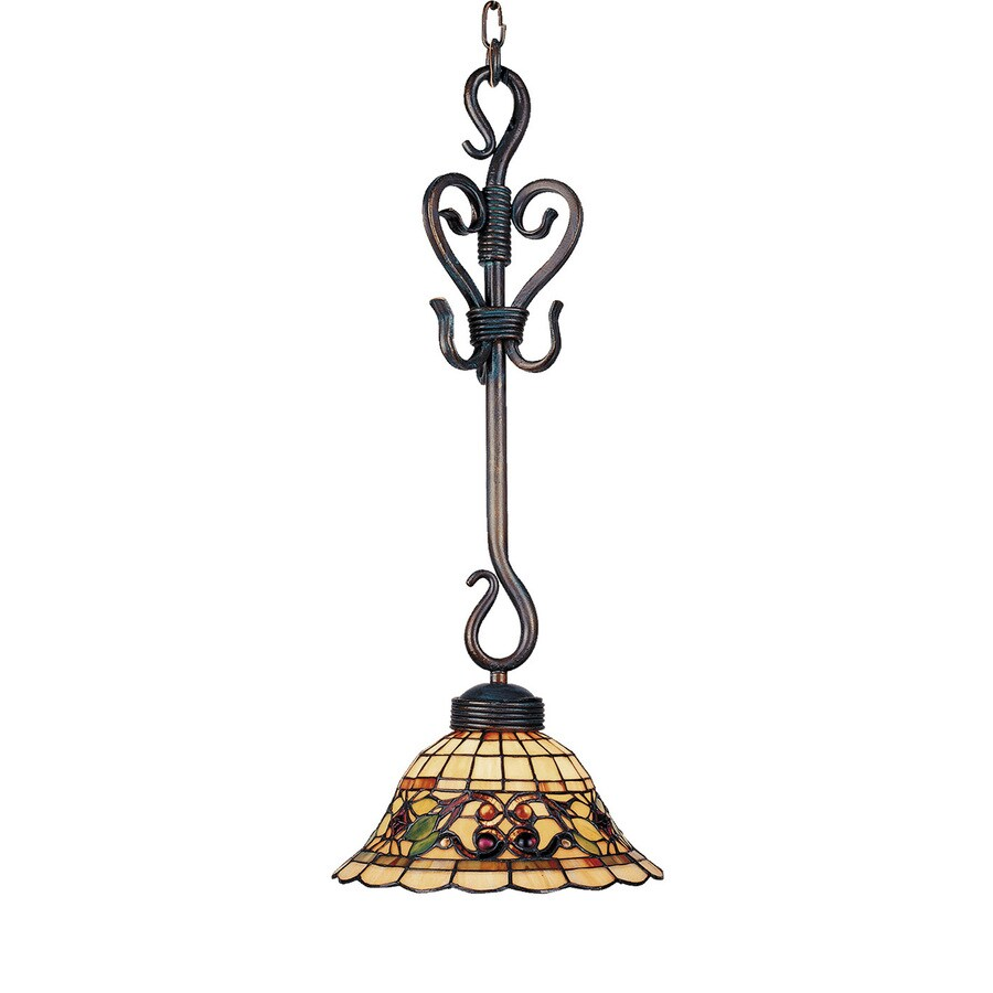 Westmore Lighting St Augustine 9.5-in Vintage Antique Tiffany-style Mini Art Glass Bell Pendant