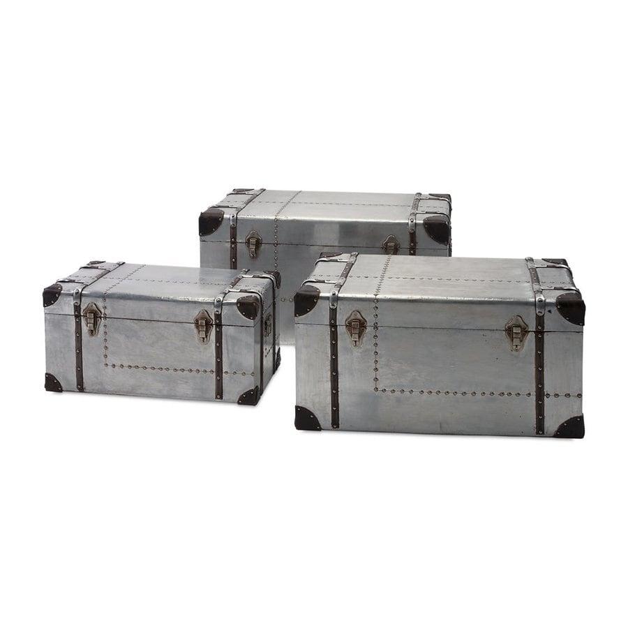 Imax Worldwide 912 Cu Ft Auminum Metal Storage Trunk
