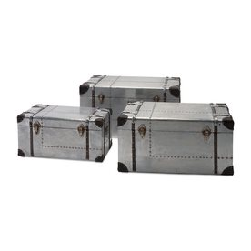 Imax Worldwide Metal Storage Trunk