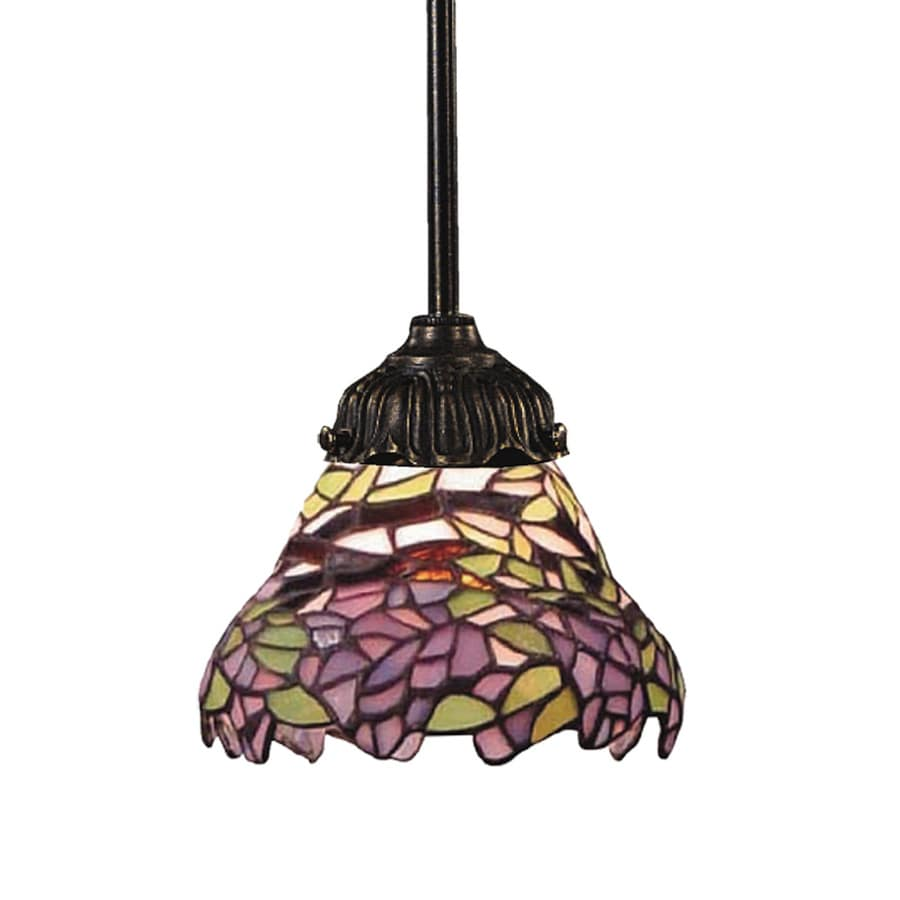 Westmore Lighting San Rafael 3-in Tiffany Bronze Tiffany-style Mini Art Glass Teardrop Pendant