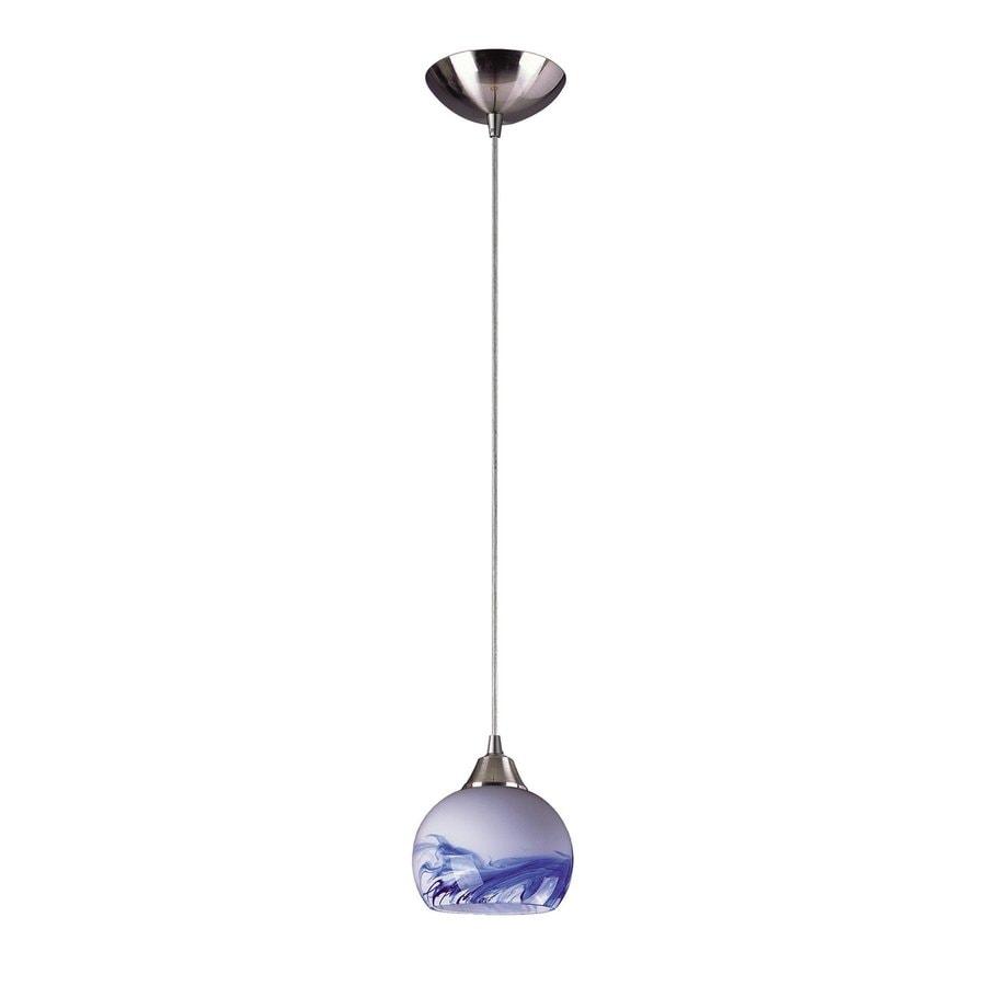 Westmore Lighting Lemora 6-in Satin Nickel Mini Art Glass Dome Pendant