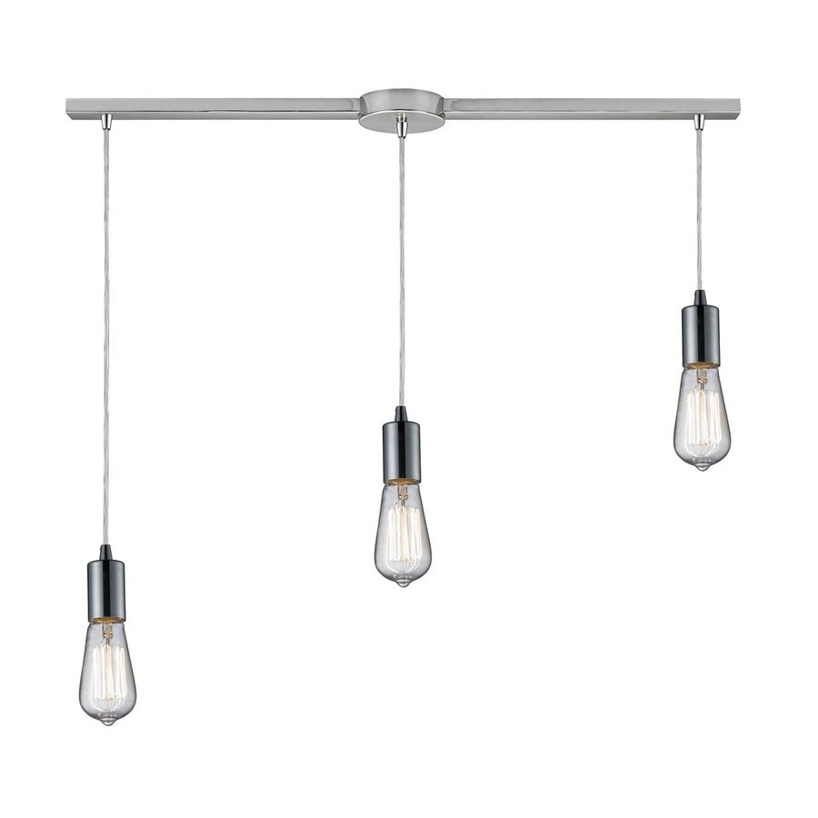 Westmore Lighting Alvingham 33-in Polished Chrome Industrial Linear Pendant