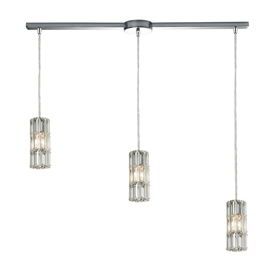 Westmore Lighting Keswick 34-in Polished Chrome Vintage Linear Crystal Cylinder Pendant