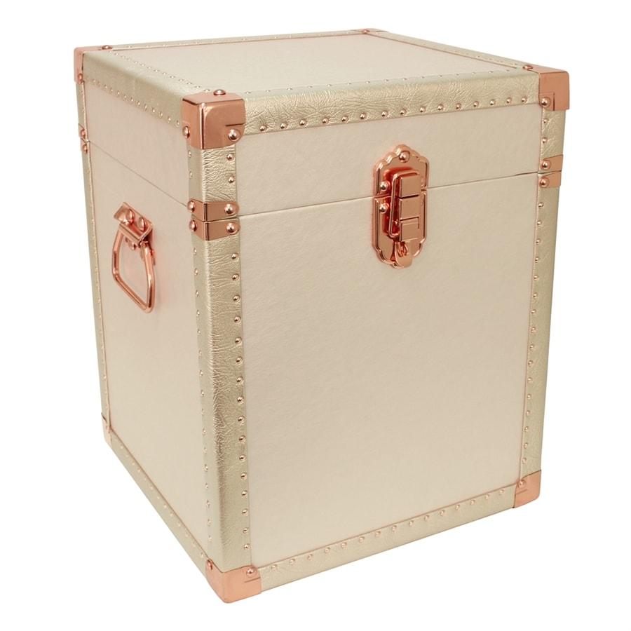 Mercury Luggage Ivory Wood Storage Trunk