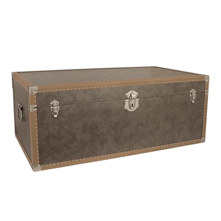 Mercury Luggage Distressed Grey Wood Storage Trunk