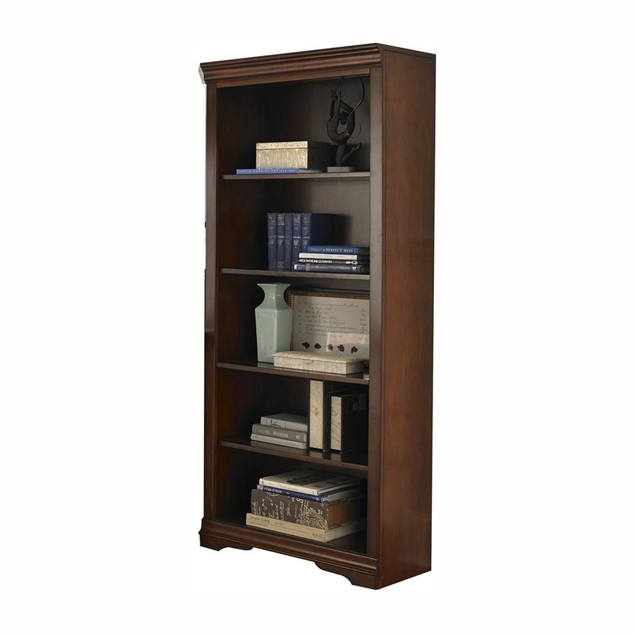 Liberty Furniture Brookview Rustic Cherry Wood 5-Shelf Bookcase