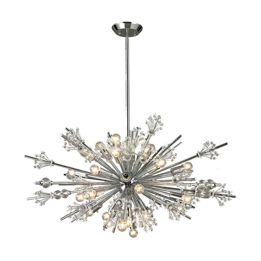 Westmore Lighting Gamma 36-in Polished Chrome Multi-light Crystal Pendant