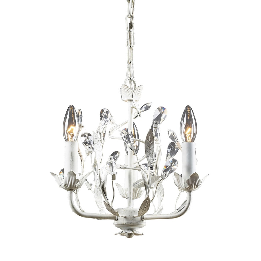 Westmore Lighting Faun 11-in 3-Light Antique White Candle Mini Chandelier