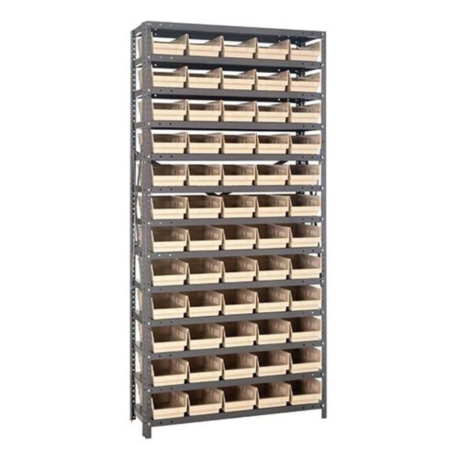 Quantum Storage Systems 75-in L x 36-in W x 12-in D 14-Tier Steel Freestanding Shelving Unit