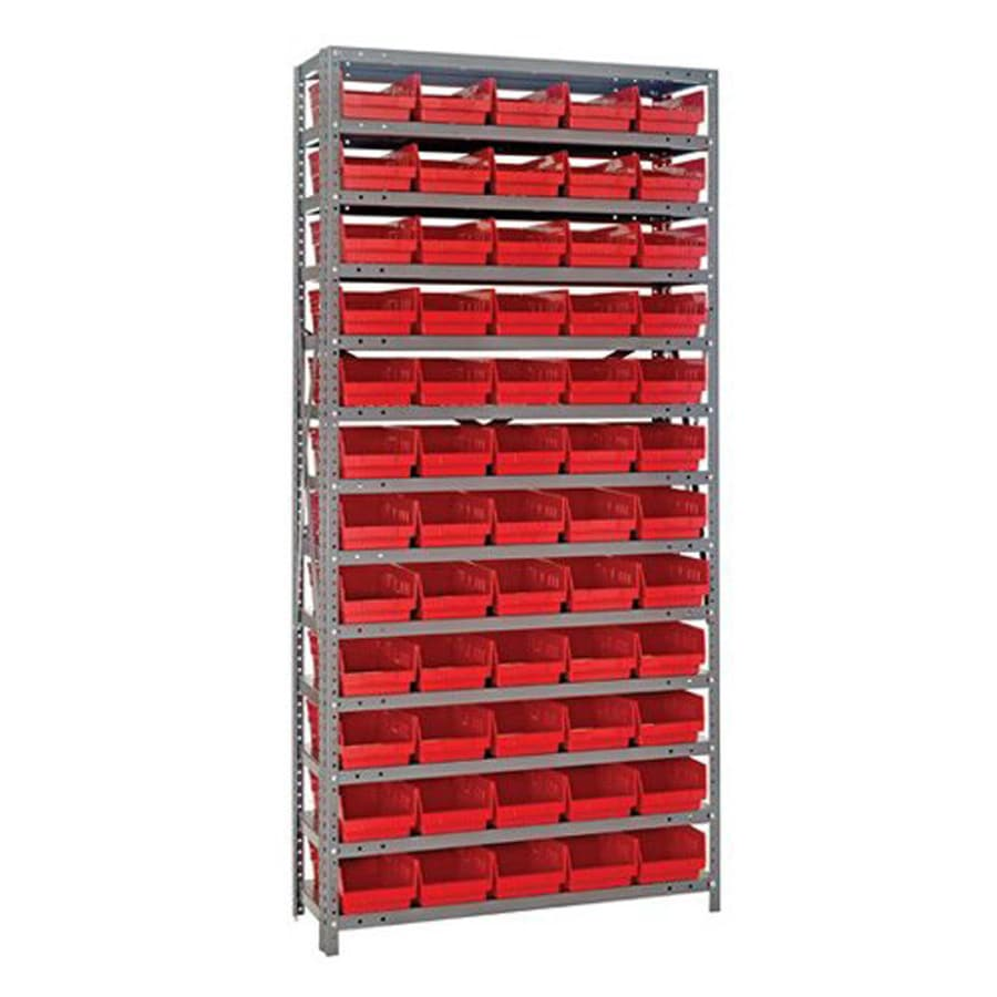 Quantum Storage Systems 75-in H x 36-in W x 12-in D Steel Freestanding Shelving Unit