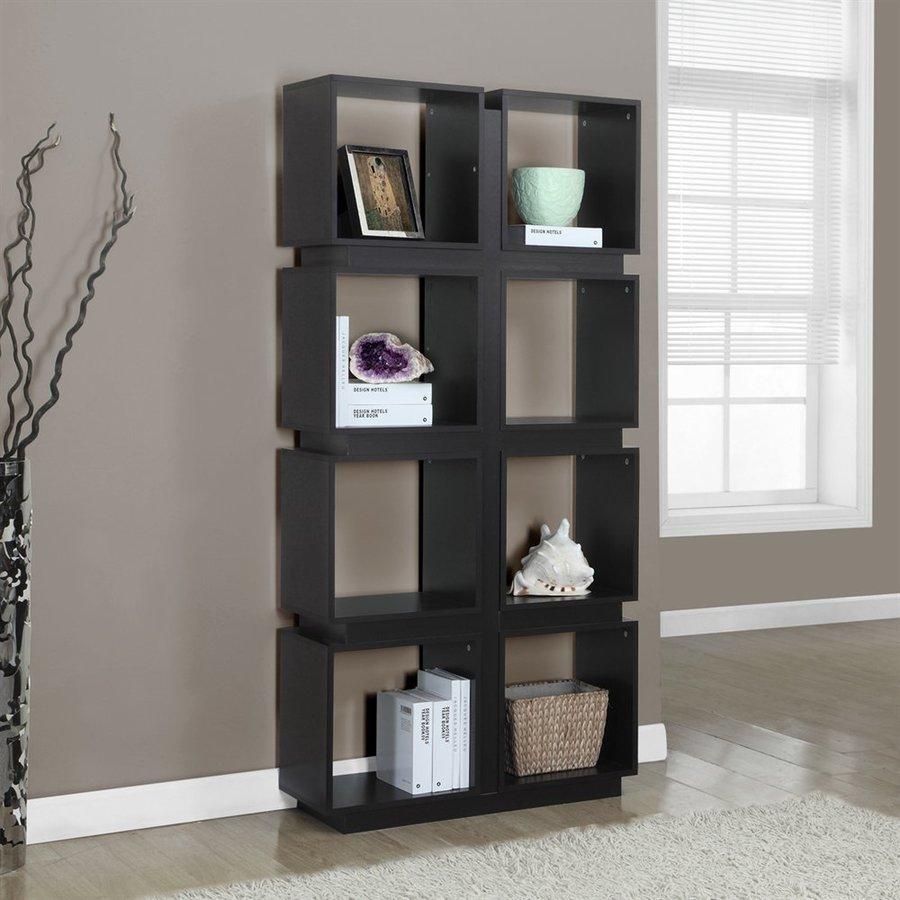 Monarch Specialties Cappuccino 8-Shelf Bookcase