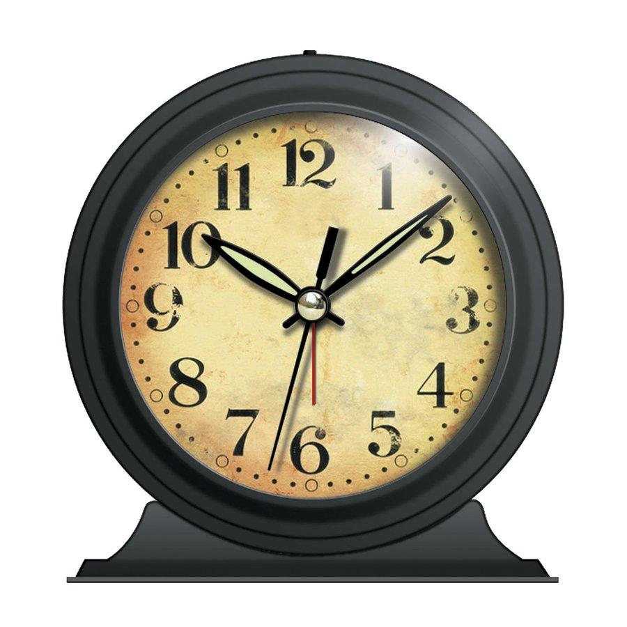 Infinity Instruments Boutique Analog Round Indoor Mantel Clock with Alarm