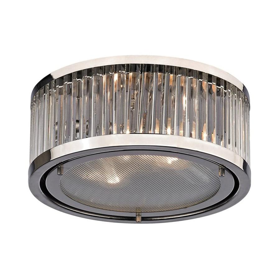 Westmore Lighting Linden 12-in W Polished Nickel Flush Mount Light