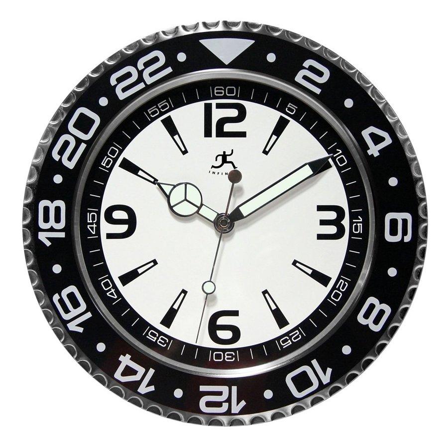 Infinity Instruments Bazel Analog Round Indoor Wall Clock