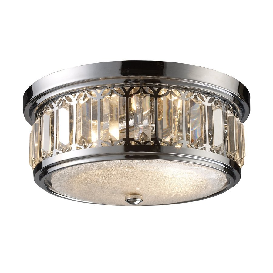 Westmore Lighting 13-in W Polished Chrome Crystal Accent Flush Mount Light