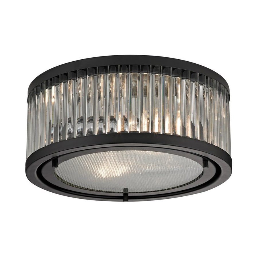 Westmore Lighting Linden 12-in W Oil-Rubbed Bronze Flush Mount Light