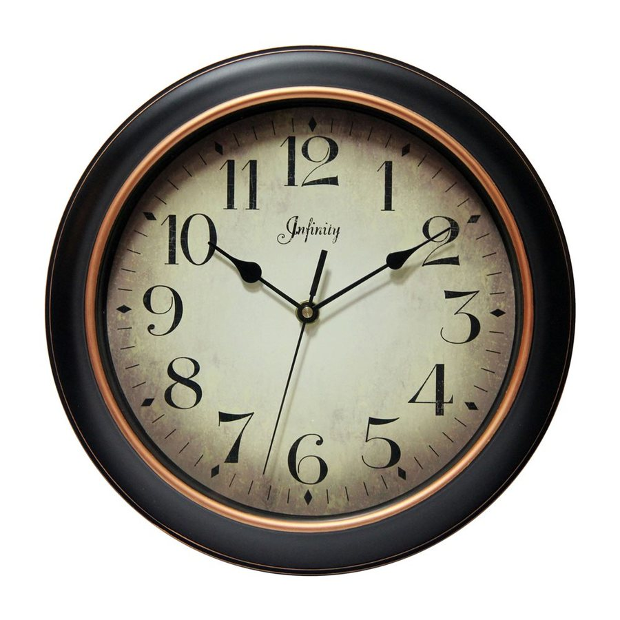 Infinity Instruments Hanover Analog Round Indoor Wall Clock