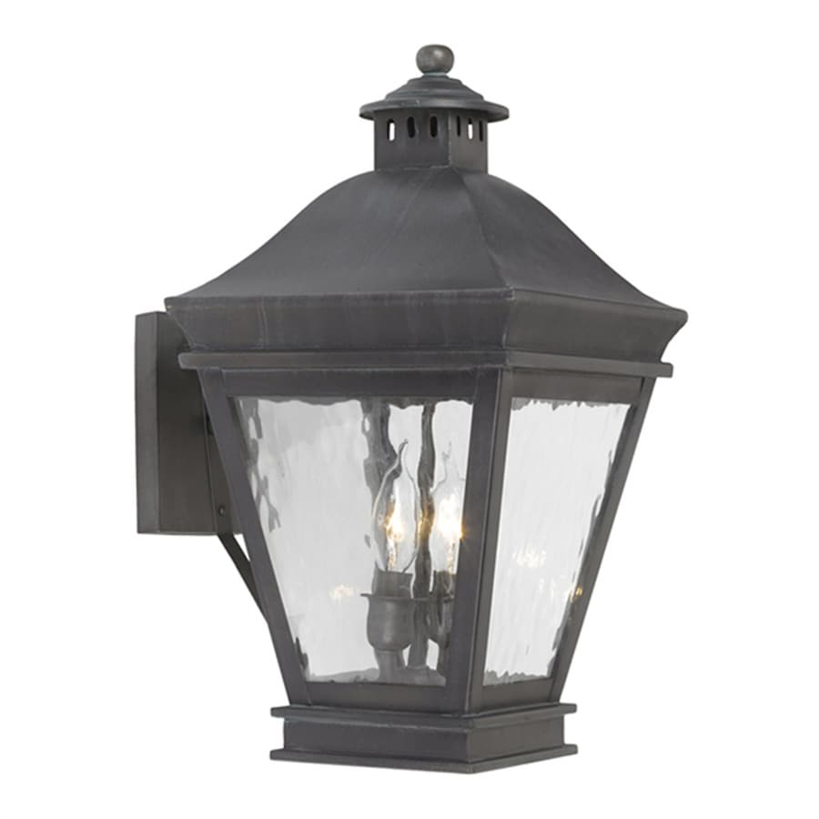 Westmore Lighting Landings 10-in H Charcoal Candelabra Base (E-12) Outdoor Wall Light