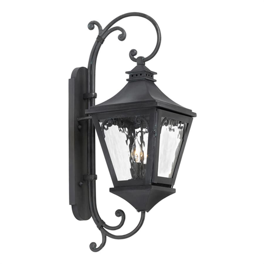 Westmore Lighting Manor 26-in H Charcoal Candelabra Base (E-12) Outdoor Wall Light