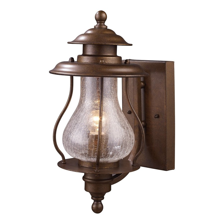 Westmore Lighting Wikshire 15-in H Coffee Bronze Medium Base (E-26) Outdoor Wall Light