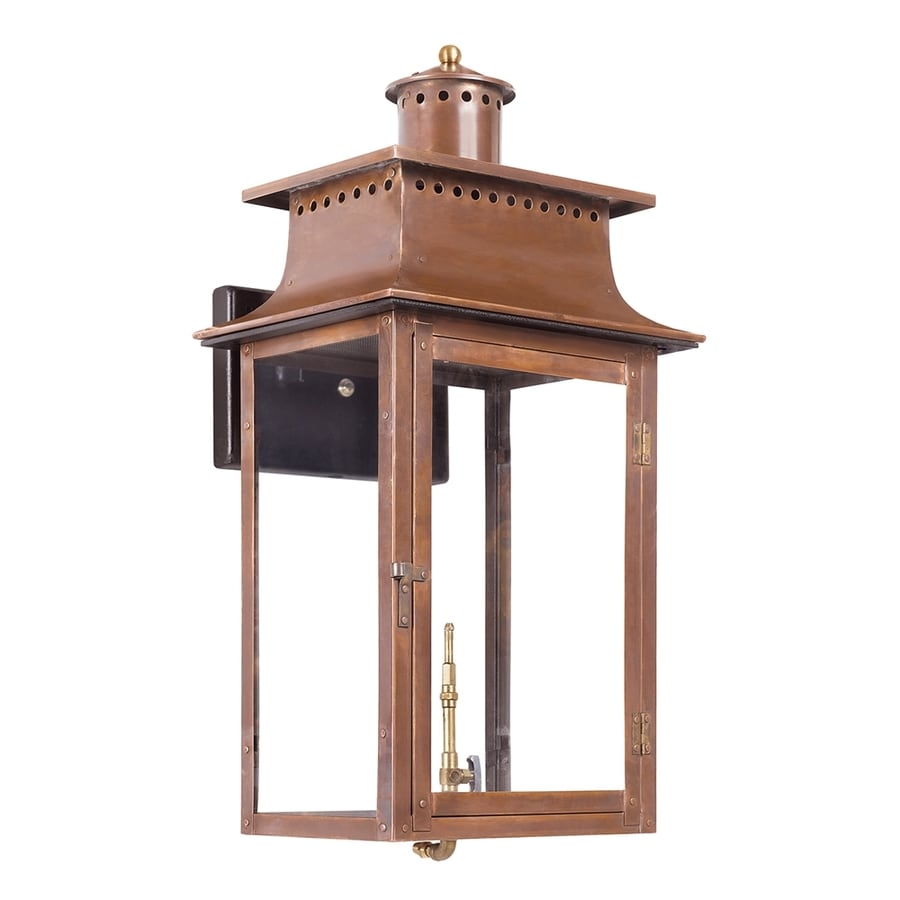 Westmore Lighting Maryville 27-in H Aged Copper Outdoor Wall Light