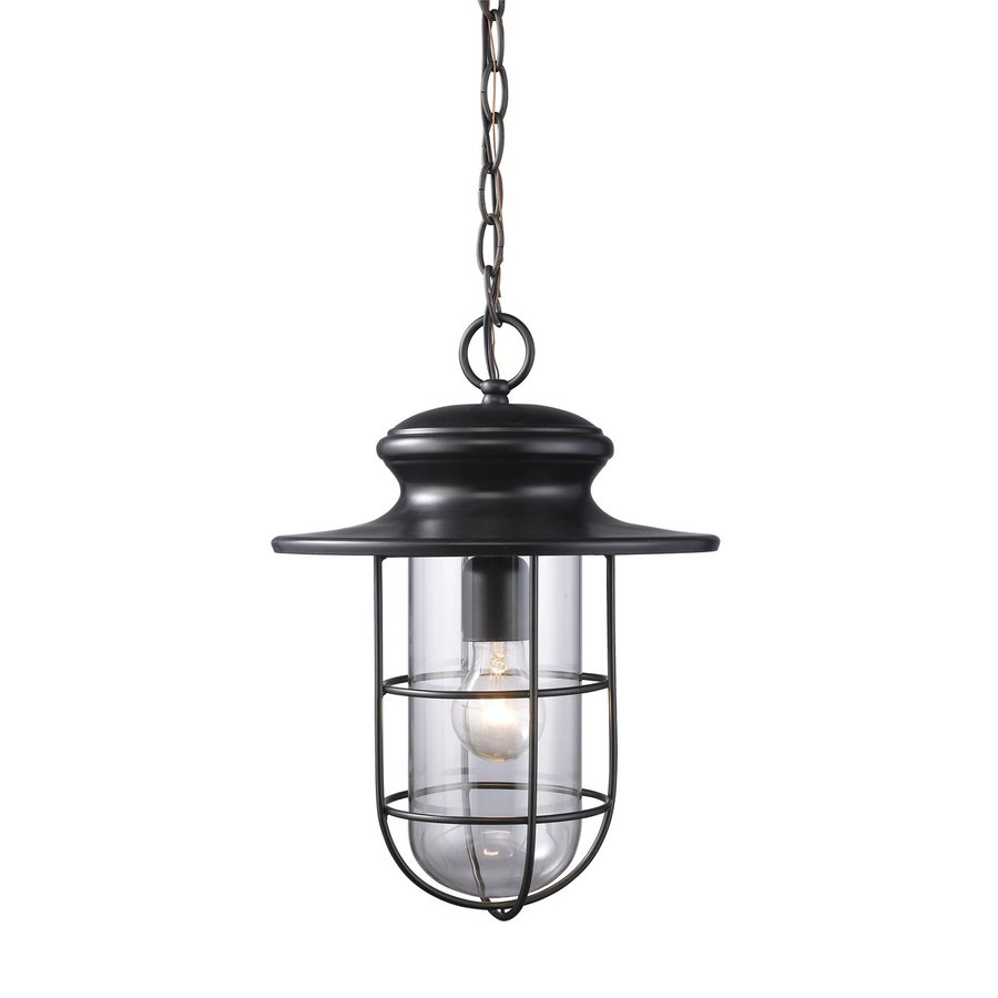 Westmore Lighting Portside 16-in Matte Black Outdoor Pendant Light