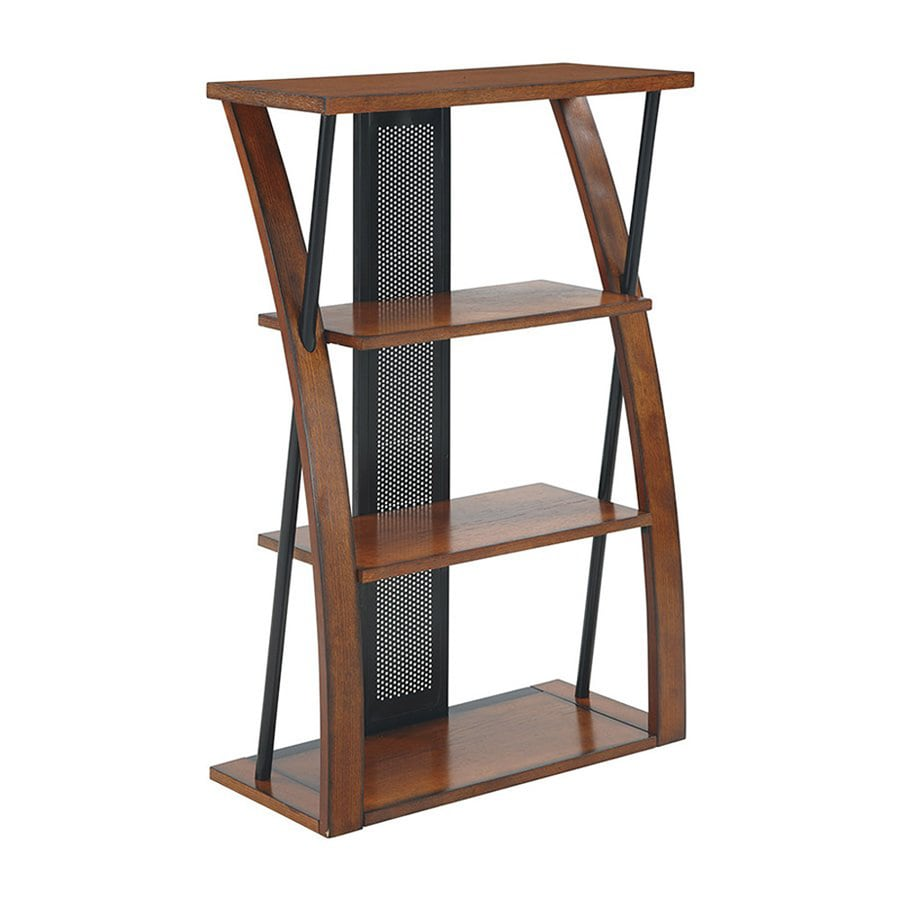 Office Star Aurora Metal 3-Shelf Bookcase