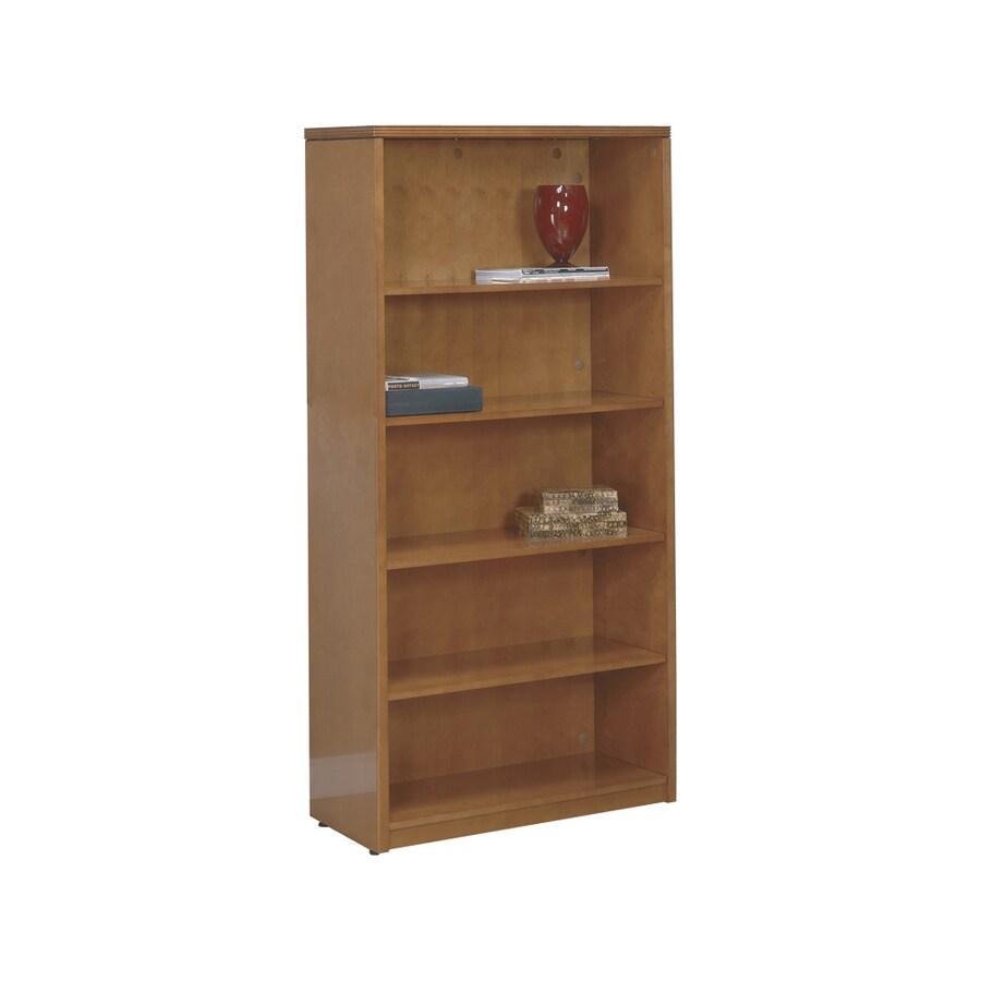 Office Star Light Cherry Wood 5-Shelf Bookcase