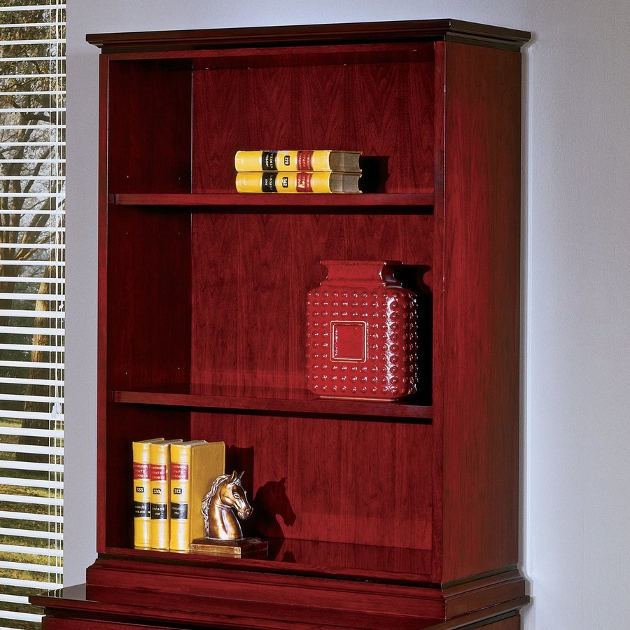 Mahogany Wood Bookcases ~ Shop office star mahogany wood shelf bookcase at lowes