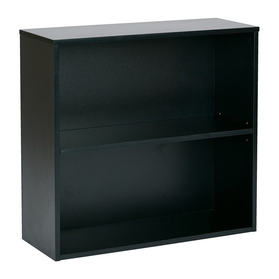Office Star Prado Black 2 Shelf Bookcase