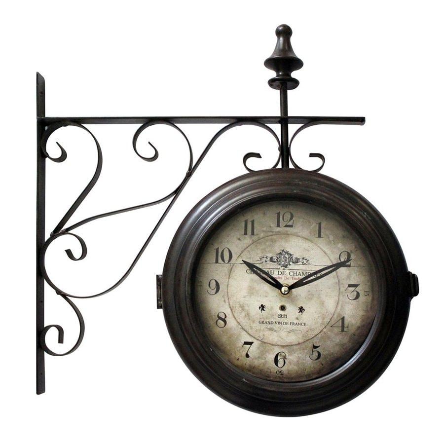 Yosemite Home Decor Analog Round Outdoor Wall Clock