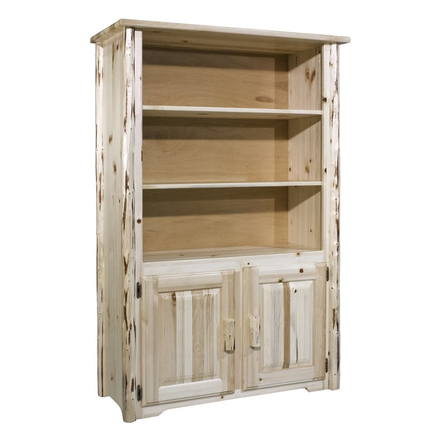 Montana Woodworks Montana Clear Lacquer Wood 3-Shelf Bookcase