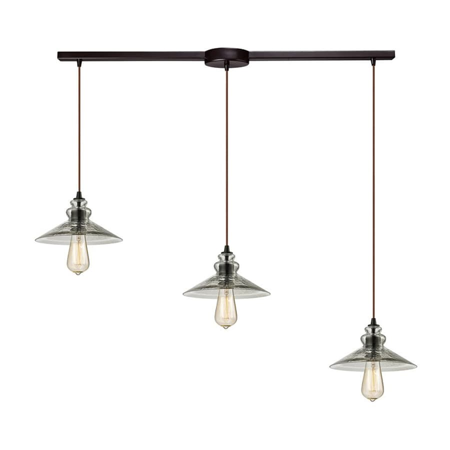 Westmore Lighting Glassmith 40-in Oil Rubbed Bronze Barn Linear Clear Glass Warehouse Pendant